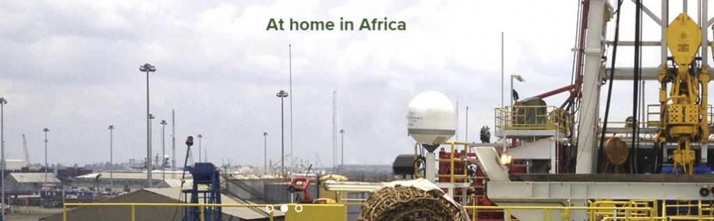 Oil rigs at home in Africa